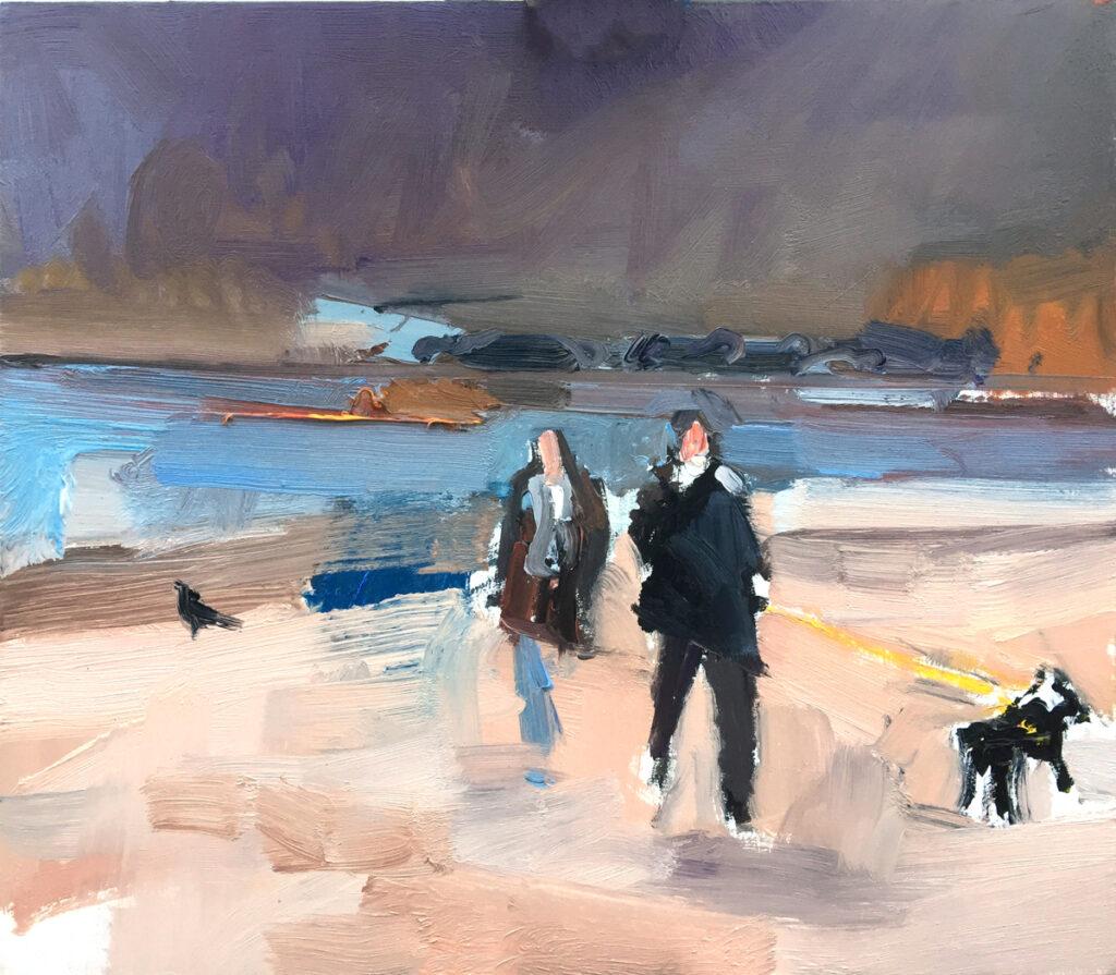 Walkers and Dog Studland Bay
