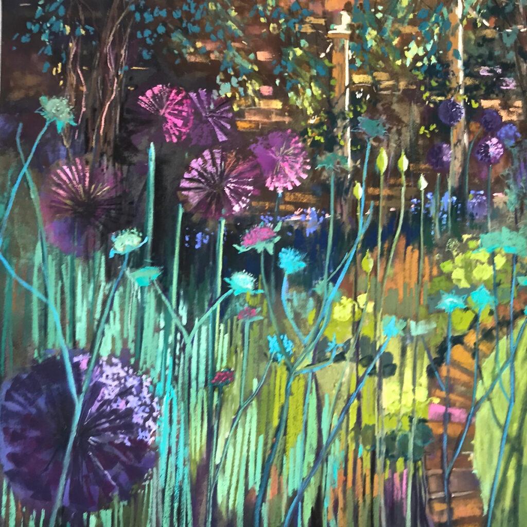 Alliums and verbena