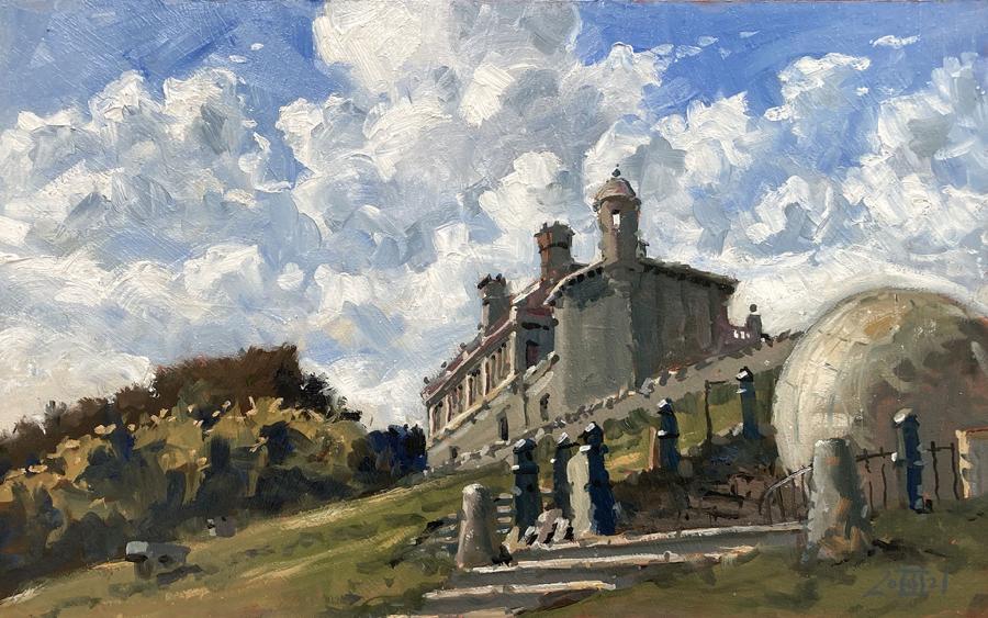 Clouds at Durlston Castle