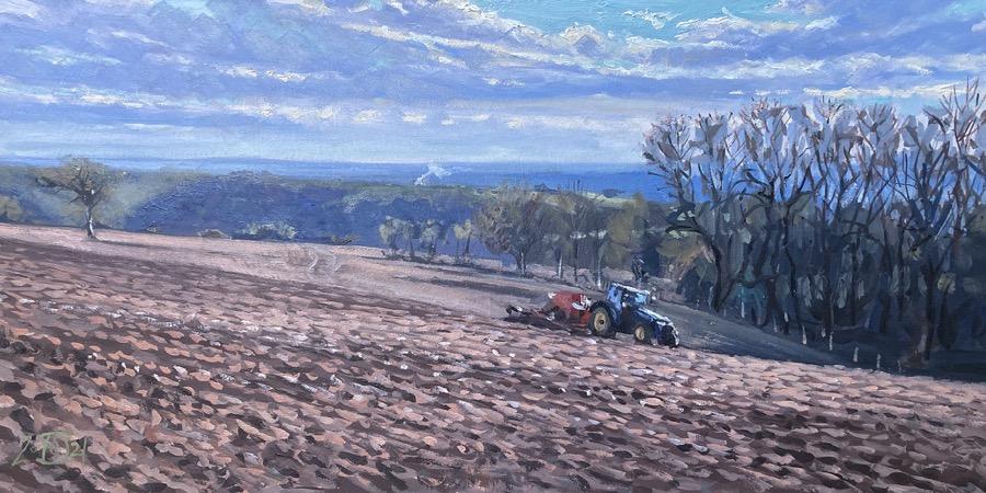 Seed Drill on Bulbarrow