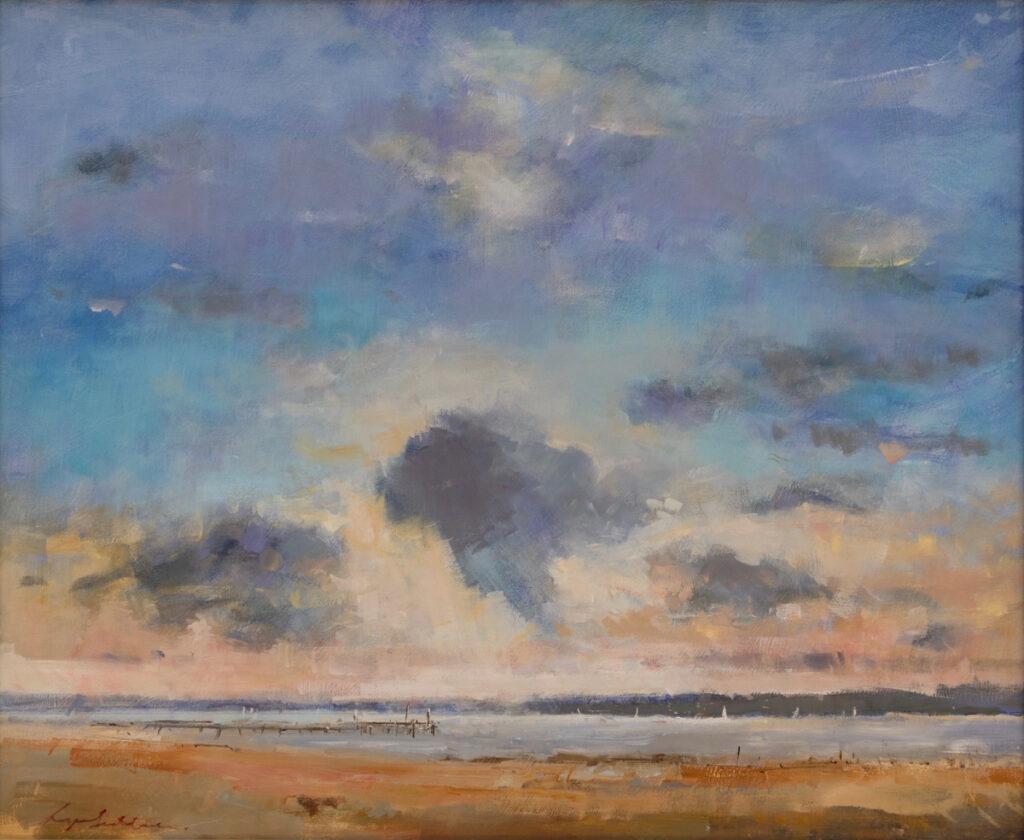 Summer's Evening, Lake Pier, Hamworthy Beach