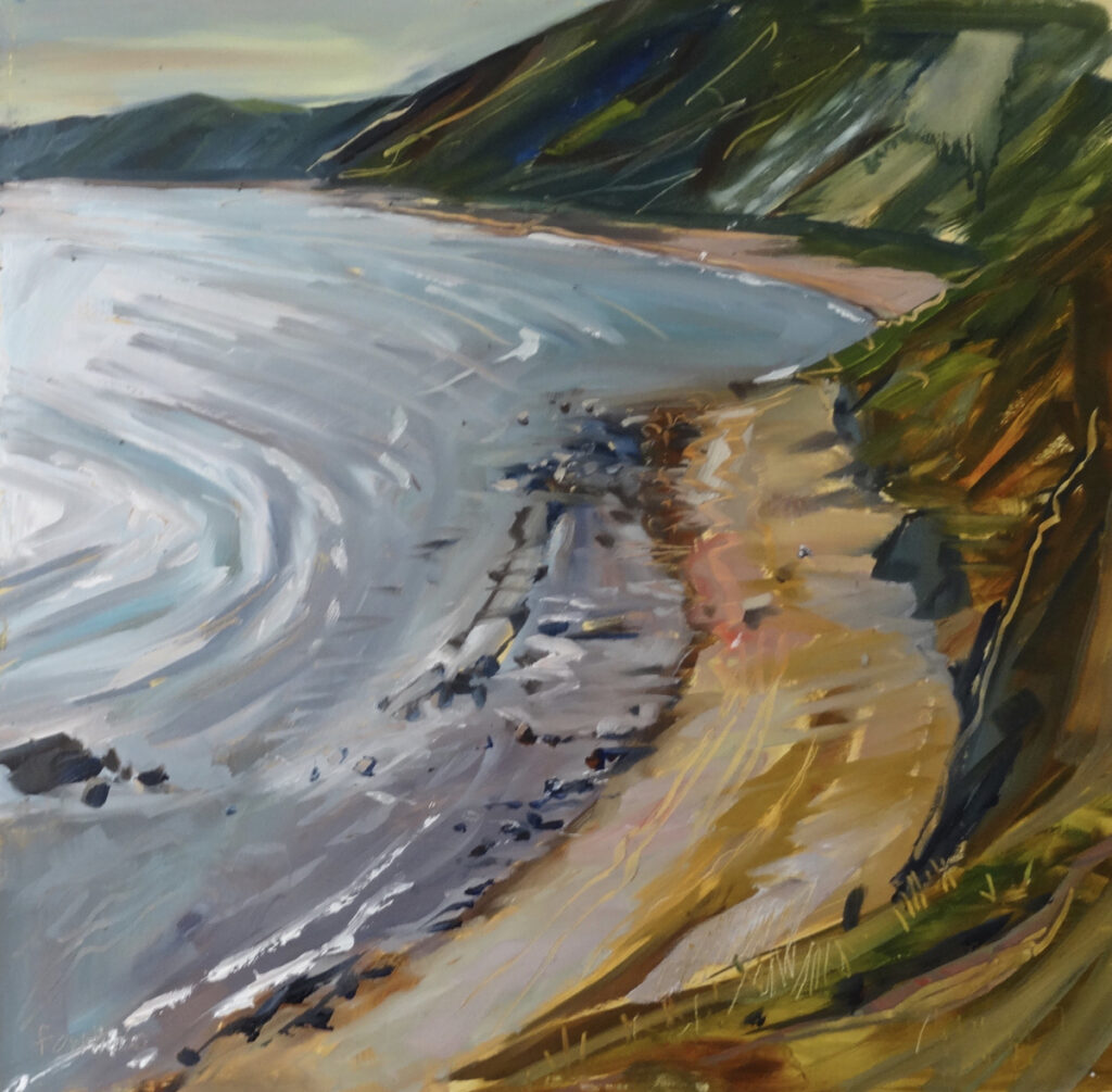 Hot Day at Osmington oil on board