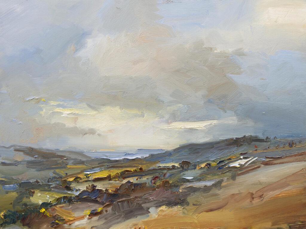 Windy Day looking towards the Sea. Kimmeridge